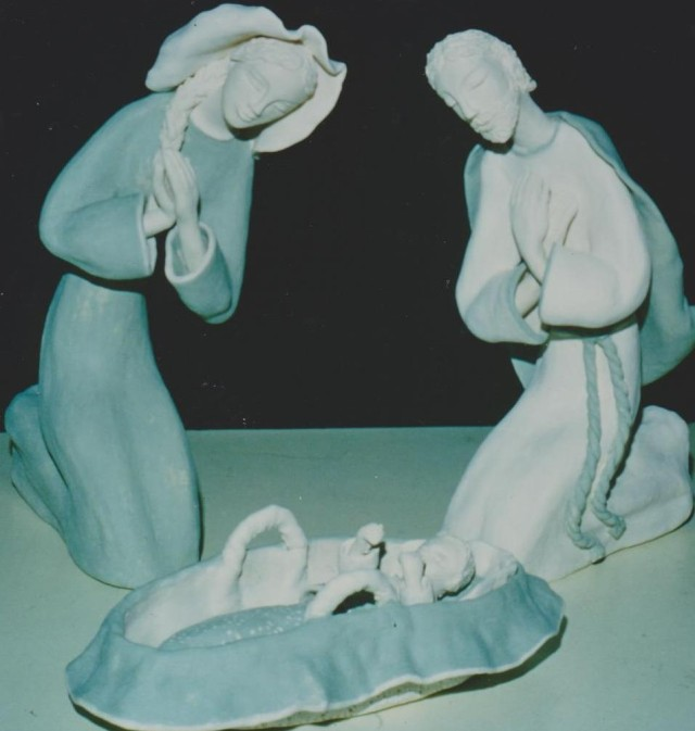 Presépio feito por Clotilde Gabriel