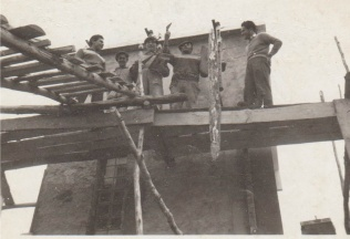 Construção da Cabine em 1960 (Foto de Rafael Patrão)
