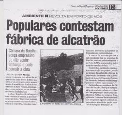 Jornal Correio da Manhã 5 de Outubro de 2003