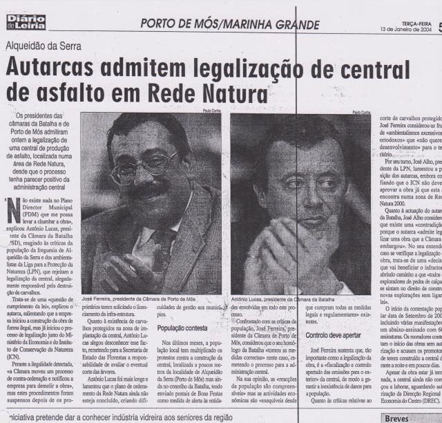 Diário de Leiria 13 de Janeiro de 2004