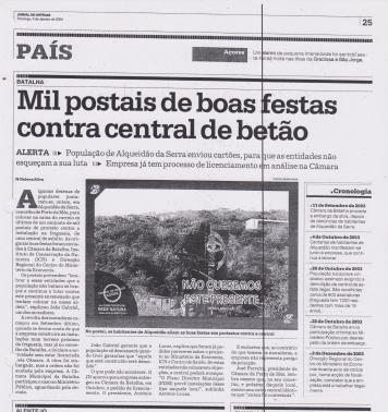 Jornal de Noticias 4 de Janeiro de 2004