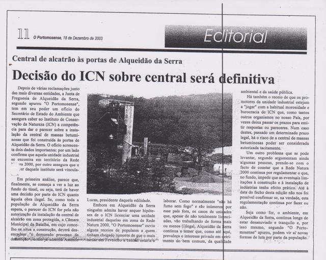 Jornal O Portomosense 18 de Dezembro de 2003