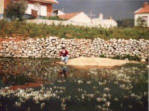 A Barreira em 1982 - Local onde actualmente está o jardim onde foi colocado o monumento em homenagem ao Major.