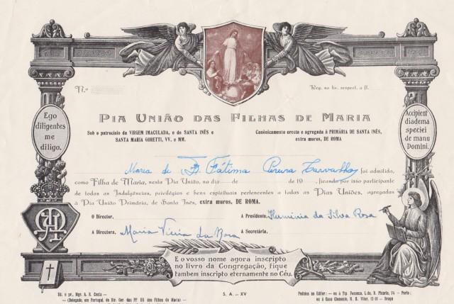 Diplomas das Filhas de Maria