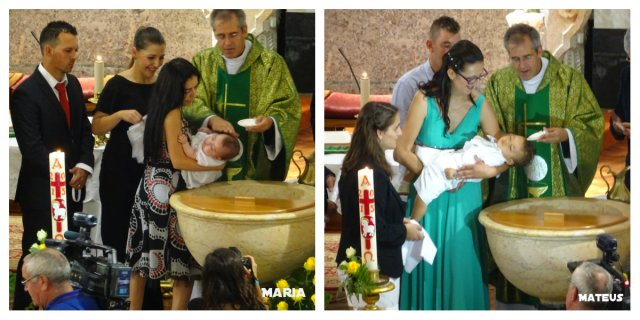 Batizado da Maria e do Mateus