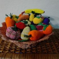 Frutas de Crochet