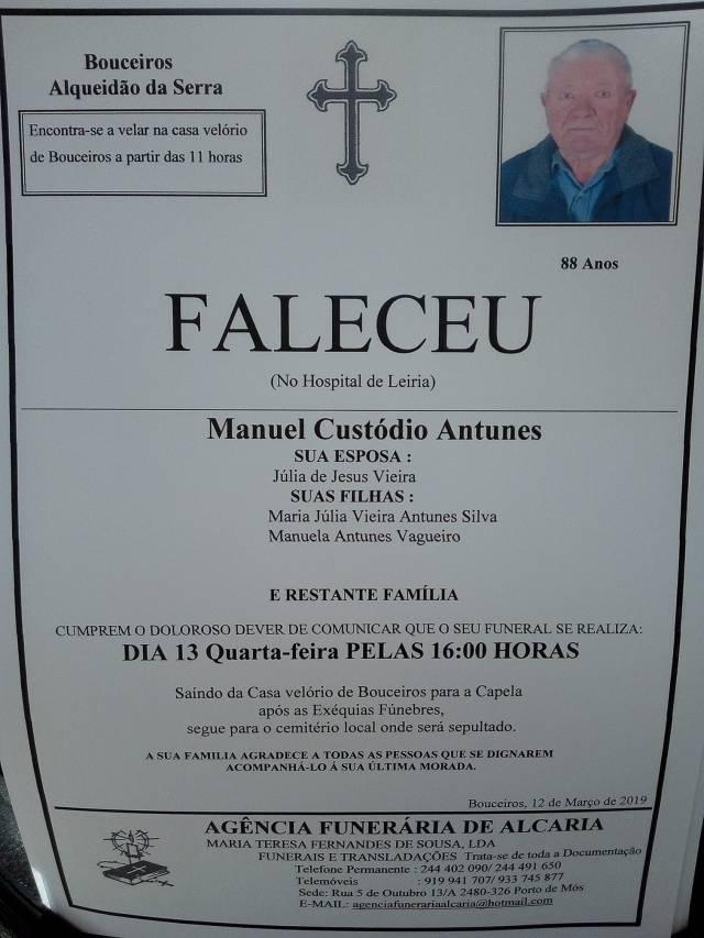 14 Manuel Custódio Antunes