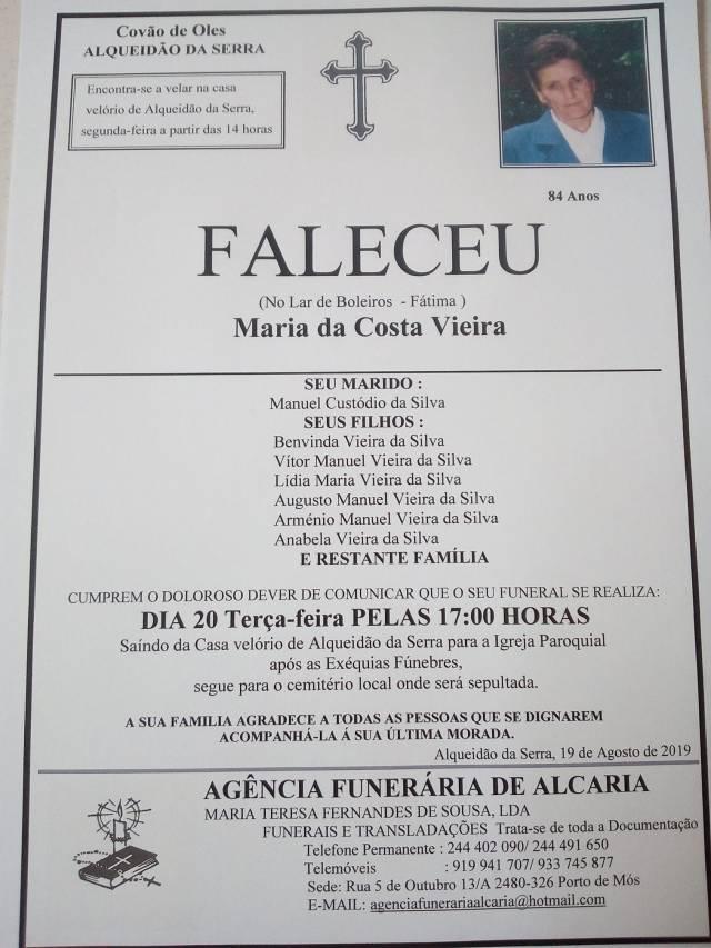 19 Maria da Costa Vieira