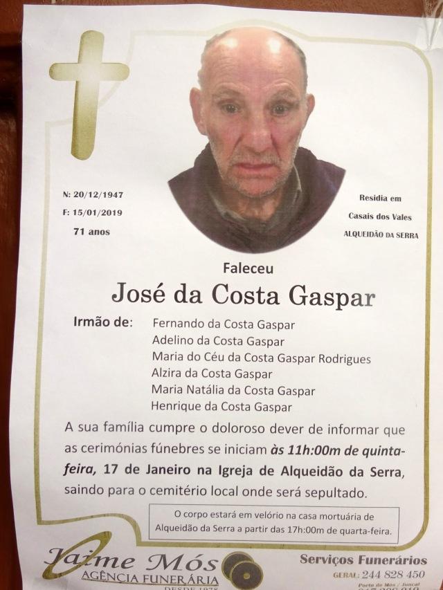 9 José da Costa Gaspar