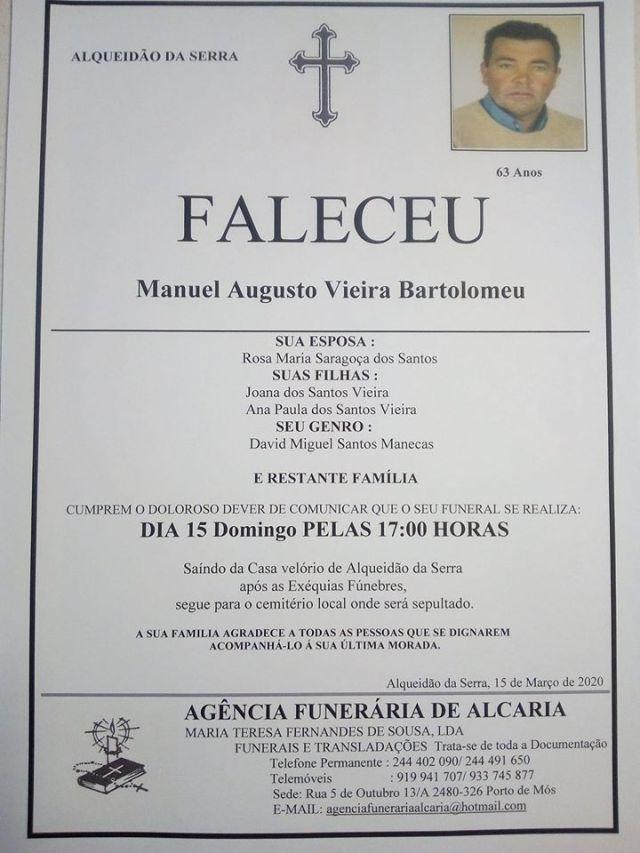 Manuel Augusto Vieira Bartolomeu